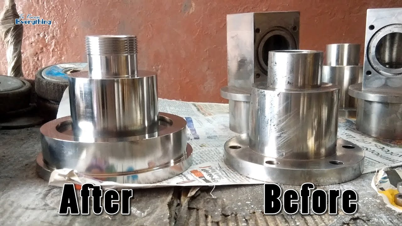 How To Buffing Stainless Steel Buffing Work Polishing Steel How To Youtube