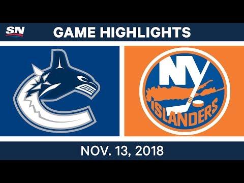 NHL Highlights | Canucks vs. Islanders – Nov. 13, 2018