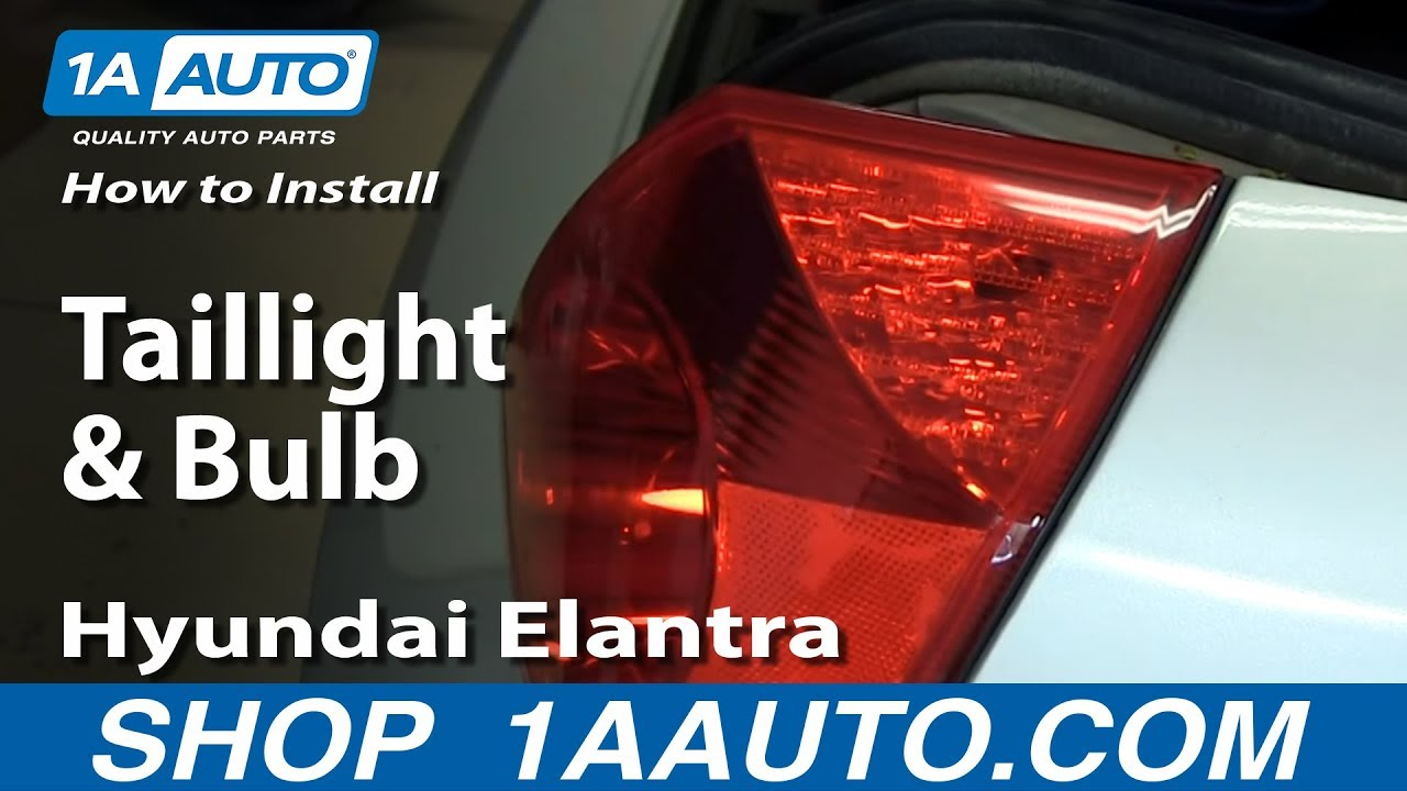 How To Install Replace Change Taillight and Bulb 200106 Hyundai Elantra  YouTube
