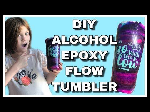 DIY Alcohol Ink Epoxy Flow Tumbler