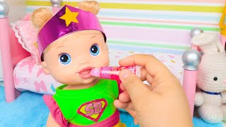 BABY ALIVE MALU SE TRANSFORMA EM SUPER HEROÍNA - Lilly Doll