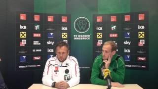 Pressegespraech vor dem Spiel TSV Hartberg gegen den FC Wacker Innsbruck