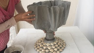 Ideas For Making Pots From Cement And Recycled Materials