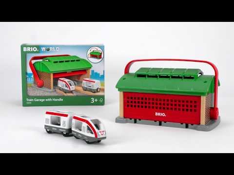 BRIO World - 33474 Train Garage with Handle