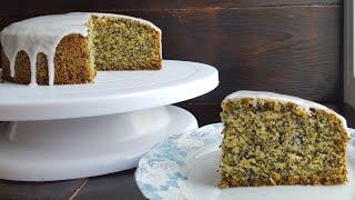 ПОСТНЫЙ апельсиновый МАННИК С МАКОМ🌸ПОСТНАЯ ГЛАЗУРЬ🌸Orange poppyseed bundt cake