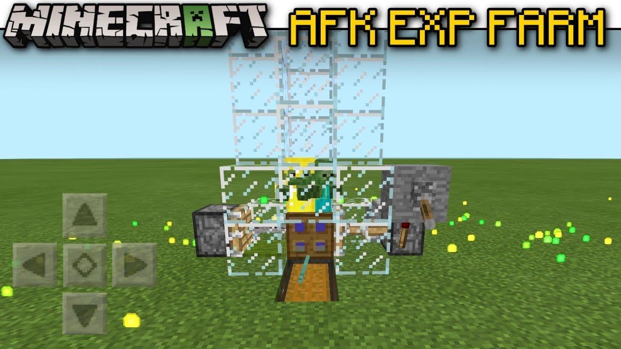 Minecraft Bedrock - AFK EXP. FARM - Trident Killer ( Automatic )[ Tutorial  ] MCPE / Xbox / Switch