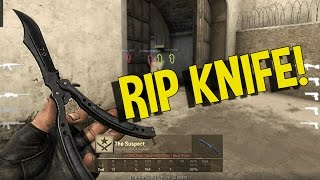 CS:GO - HACKER WITH A KNIFE!! WTF IDIOT (FUNNY MOMENTS)