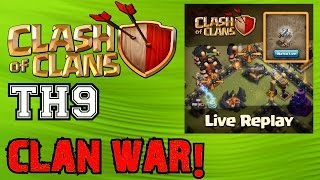 Clash of Clans TH9▐ LIVE START OF NEW CLAN WAR!