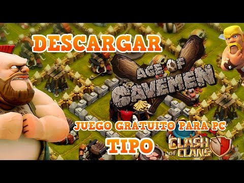AGE OF CAVEMEN | JUEGO PARECIDO A CLASH OF CLANS PARA PC | TheNocs
