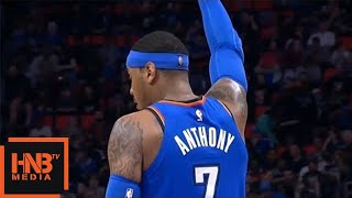 Carmelo Anthony 25000 Points In His Career / Thunder vs Pistons