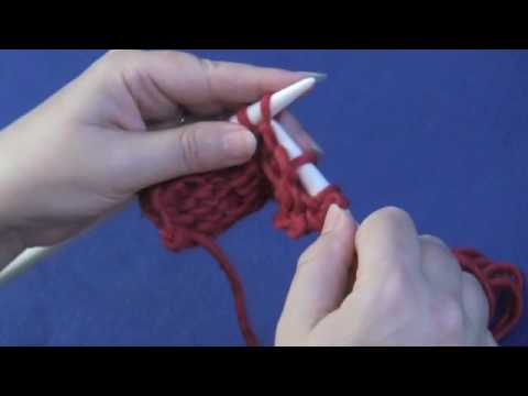 Knitting Increase In Next Stitch Purlwise : Slip Stitch Purlwise - YouTube