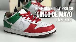 san francisco b85ec 6adfb LUCKED OUT WITH THESE - Nike Dunk Low Pro SB   39 Cinco De Mayo  39  Sneaker  Unboxing