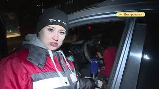 Фото Предположительно пьяная женщина водитель кроссовера совершила двойное ДТП