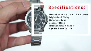 Casio Unboxing:MTP-V004D-1BUDF Stainless Steel