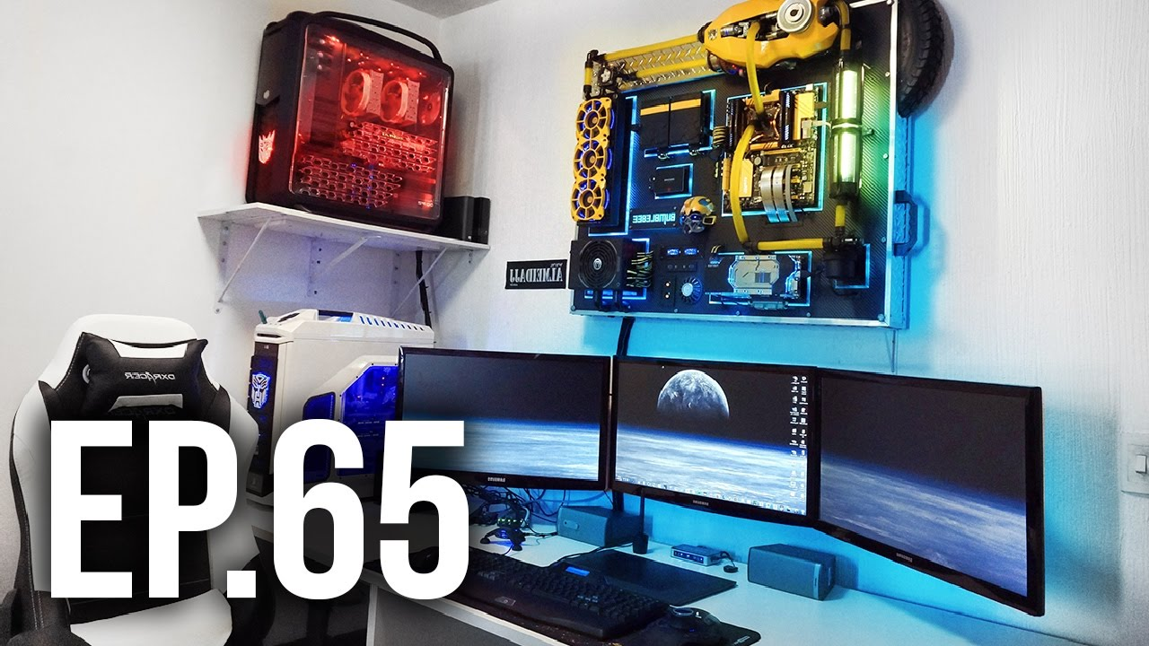 room tour project 65 - best gaming setups w/ wall transformers pc