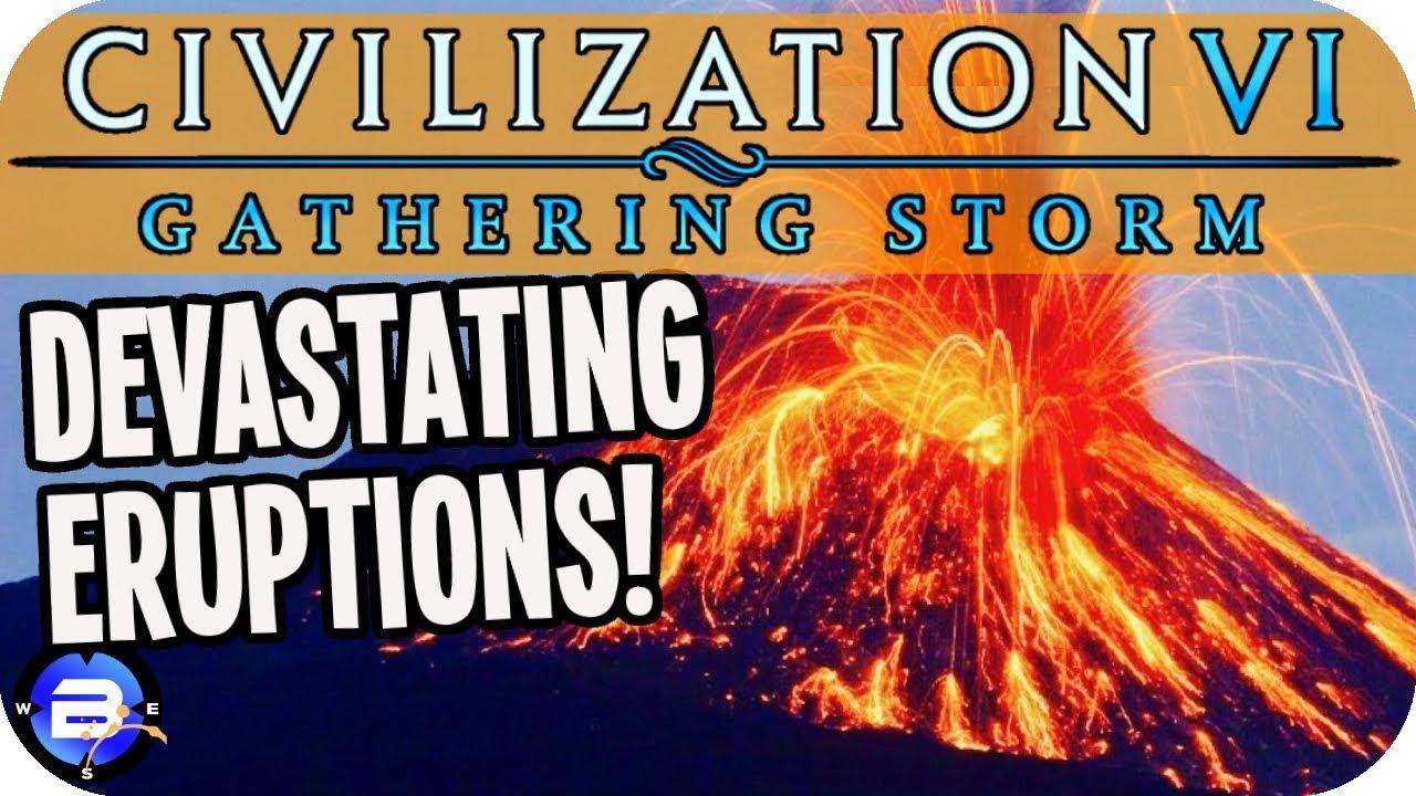 Devastating Eruptions Surround Me in Civilization VI Gathering Storm #10  (Pachacuti/Inca Civ 6)