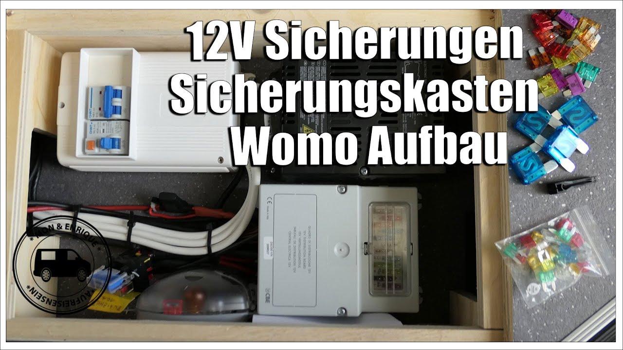 12v sicherung und sicherungskasten im wohnmobil aufbau. Black Bedroom Furniture Sets. Home Design Ideas