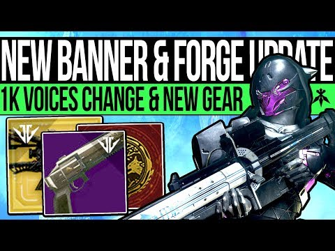 Destiny 2 | BANNER WEAPONS & FORGE UPDATES! New Armor, 1k Voices Change, Holiday Roadmap & Frames!
