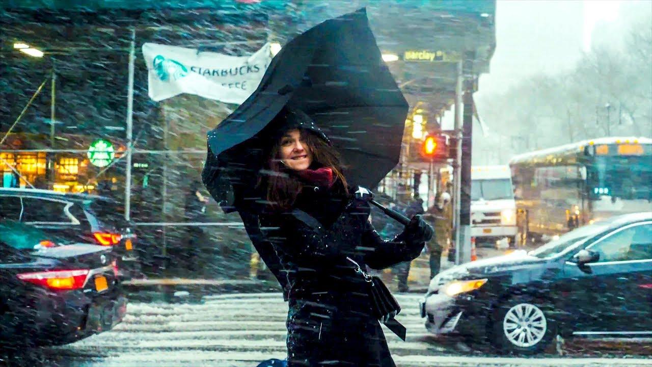 Burza śnieżna w Nowym Jorku!