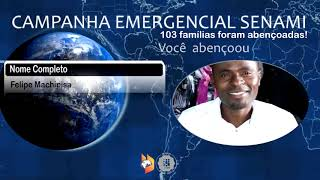 Mais de 100 famílias missionárias ajudadas pela Campanha da SENAMI
