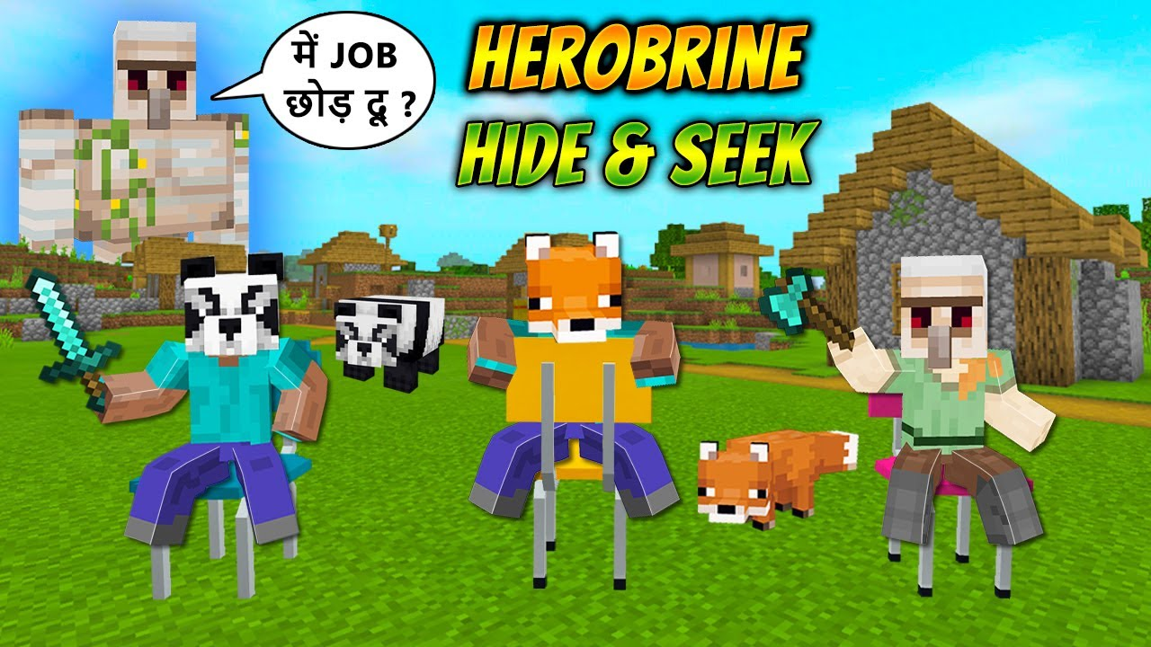 Download Minecraft Herobrine OP Hide and Seek with Musical Chairs | Bollywood Gamerz