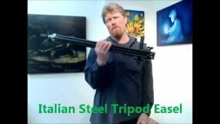 Derek's Favorite Easel, Portable Italian Steel Tripod Easel From Artists' Edge