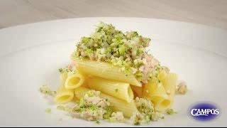 Cous-cous de brócoli y coliflor salteado con pasta y Atún Claro Campos