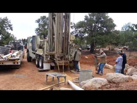 Setting Surface Casing for a well In Pinion Pines