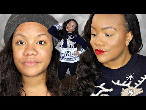 Chit-Chat GRWM Ugly Christmas Sweater Party Edition | Makeup, Hair, Outfit