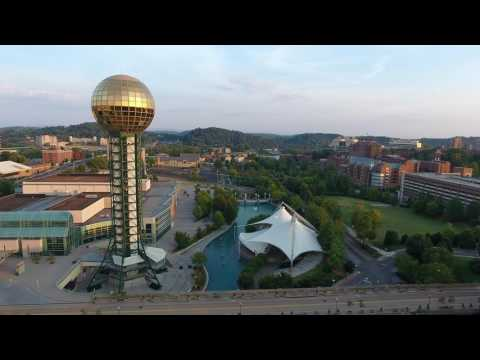 Knoxville TN Sunsphere 4K Drone