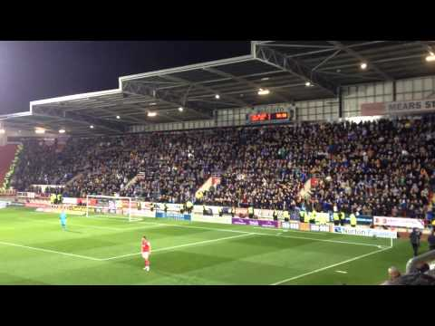Wednesday fans at Rotherham October 2015