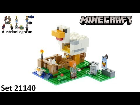 Lego Minecraft 21140 The Chicken Coop - Lego Speed Build Review