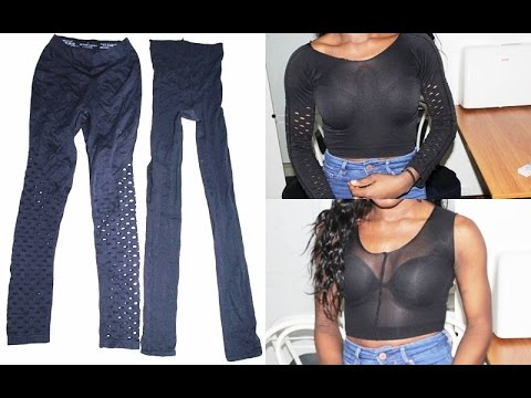 3d27753abce DIY: Old Leggings to Crop Tops! - YouTube