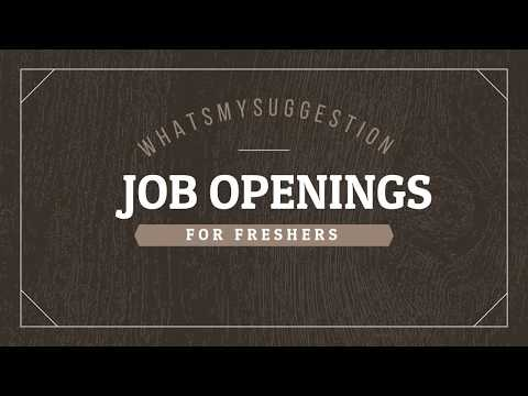 Urgent Job Openings For Freshers In Bangalore