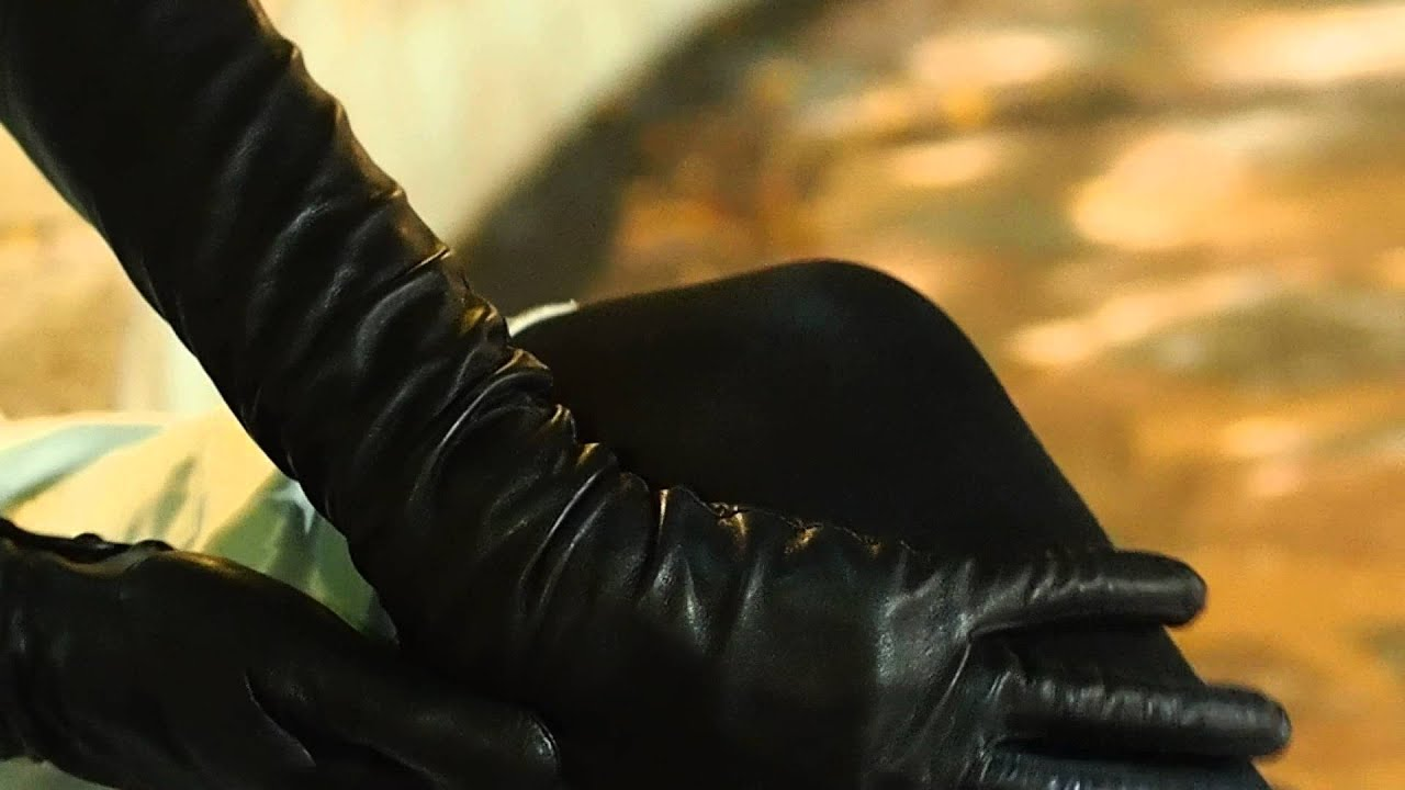 Leather glove fetish video