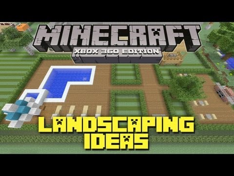 minecraft-xbox-360:-landscaping-ideas-and-tutorial!-(backyard-tutorial)