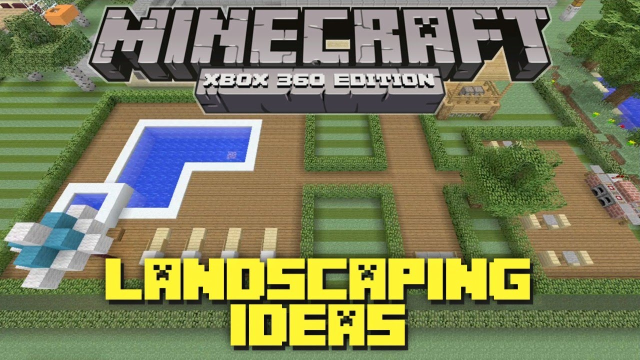 Minecraft Xbox 360 Landscaping Ideas And Tutorial! Backyard