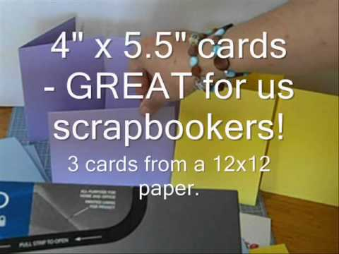 Tip #23 - Overview - A2 Size Card Chocies from 12x12 - YouTube