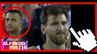 Alexis Sanchez se Burla de Messi y Muestra Su Pie