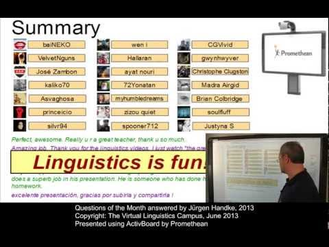 General Linguistics - Questions of the Month (June 2013)