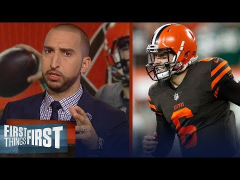 Nick Wright On Baker Mayfield's Debut: 'A Star In The NFL Is Born' | NFL | FIRST THINGS FIRST
