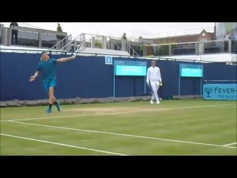 Denis Shapovalov Practice | Queen's Club 2018 | Court Level