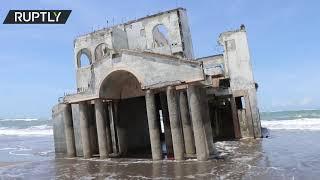 Entire villa washed ashore on El Salvador beach