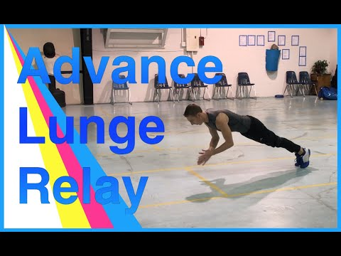 Fencing Footwork - Advance Lunge Relay