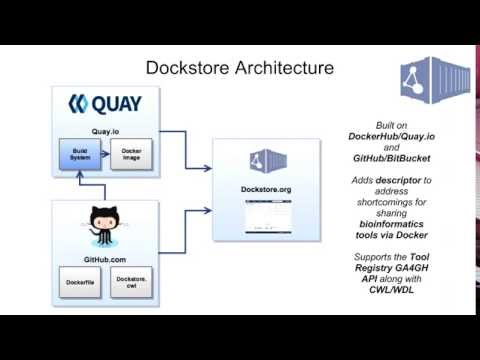Cloud-based workflow and tool execution using Toil and sharing via the Dockstore