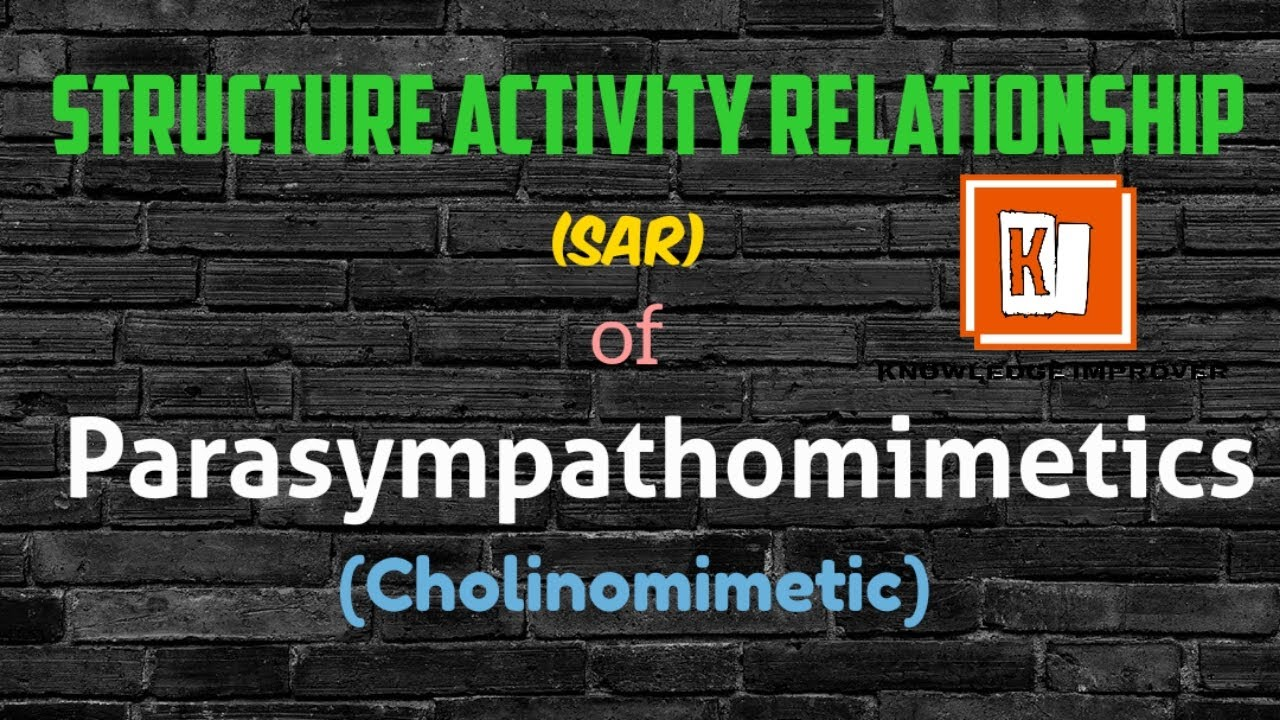 Sar of Parasympathomimetic | Sar of cholinomimetic