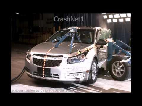 Chevrolet Cruze | 2011 | Side Crash Test | High Speed Camera | NHTSA Full Length Test