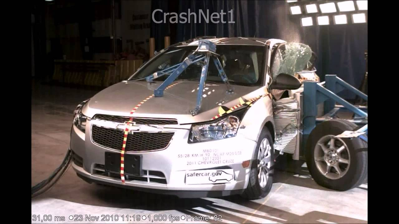 Chevrolet Cruze 2011 Side Crash Test High Speed