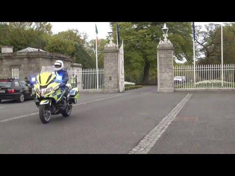 Taoiseach Enda Kenny Leaves Áras an Uachtaráin After Receiving Seal of Office