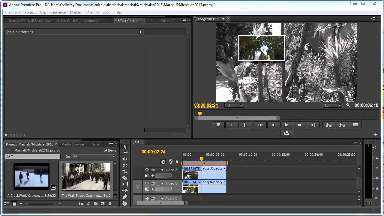 how to cut clip in adobe premiere